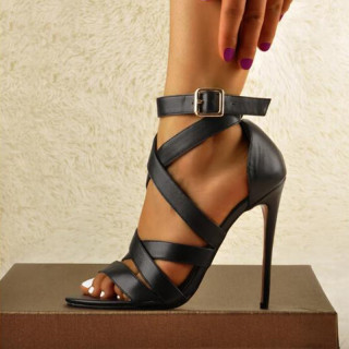 Arden Furtado Summer Fashion Women's Shoes Sexy Elegant Stilettos Heels Narrow Band Buckle Pointed toe Sandals size 44 45