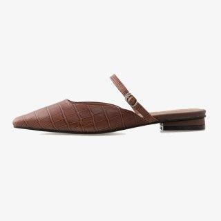 Arden Furtado Summer Fashion Women's Shoes Genuine Leather Green Elegant Flats Slippers  Mules 42 43
