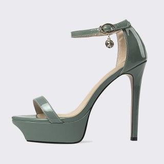 Arden Furtado Summer Fashion Women's Shoes Sexy Genuine Leather  Buckle Narrow Band  Stilettos Heels Elegant Sandals