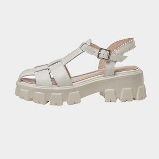 Arden Furtado Summer Fashion Women's Shoes Sexy Hook & Loop Genuine Leather  Waterproof Narrow Band  Sandals 42 43
