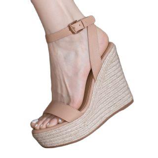 Arden Furtado  Summer Fashion Women's Shoes Buckle Wedges Sexy Elegant Genuine Leather  Sandals