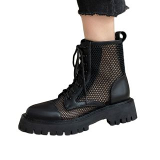 Arden Furtado Summer Fashion Women's ShoesWhite  Nesh Boots Leisure Genuine Leather Matin Boots Cool Boots Cross Lacing