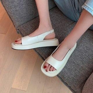 Arden Furtado Summer Fashion Women's Shoes Narrow Band Genuine Leather White Sexy  Beige Flats Sandals  33 40