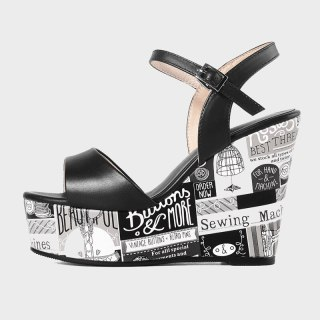 Arden Furtado 2021 Summer Platform Wedges Sandals Genuine Leather Green White Buckle Classics  Narrow Band  Concise Party Shoes