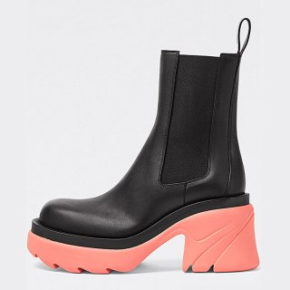 Arden Furtado Fashion Women's Shoes Winter Sexy New Round Toe Pink Slip on Genuine Leather Short Boots Chunky Heels 40 41