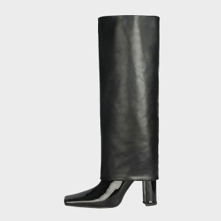 Arden Furtado 2021 Winter Fashion Boots Elegant  Chunky Heels Block Heels Slip On 10cm Square Head Ladies Shoes burgundy boots