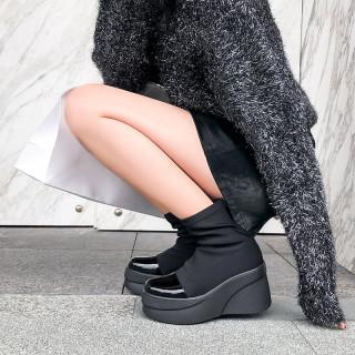 Arden Furtado Fashion Women's Shoes Platform Round Toe Shoes Waterproof Mature Leisure  loafers Short Boots
