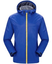 Men's Watertight Front-Zip Hooded Rain Jacket KL982320