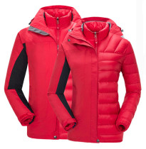 Women's Waterproof Outdoor 3-IN-1 Down Jacket  Warm Coat KL972040
