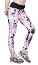 Lady's Printed Wide Waistband High Compression Workout Yoga Leggings KL672950