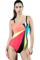 Girls' Team Color Block Power Back Tank Swimsuit KL852260