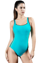 Women's One Piece High Neck Cut Out Bikini Bathing Suits Retro Swimwear KL852250