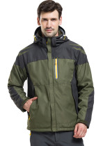 Men's Sportswear Outdoor Waterproof Windproof Hooded Warm Ski Jacket KL982180