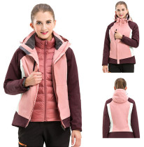 Women's Waterproof Outdoor 3-IN-1 Down Jacket  Warm Coat KL972290