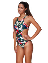 Green Sexy Camouflage One Piece Swimsuit KL832120