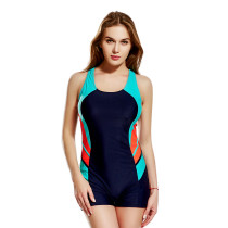 Womens One Piece Solid Athletic Competitive Swim Suit KL852340