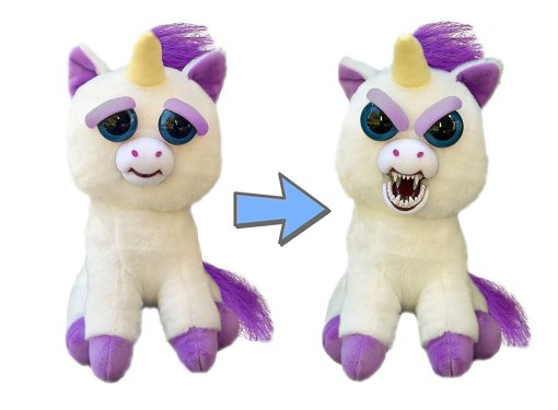 Feisty Pets: Glenda Glitterpoop the Unicorn - Goes from  Awww  to  Ahhh!  with a Squeeze