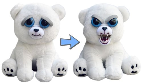 William Mark- Feisty Pets: Karl the Snarl- Adorable 8.5  Plush Stuffed Polar Bear That Turns Feisty With A Squeeze …
