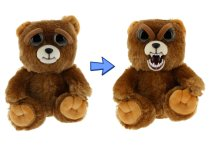 William Mark Feisty Pets Sir Growls-A-Lot- Adorable Plush Stuffed Bear that Turns Feisty with a Squeeze, 8.5  L