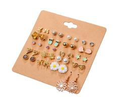 Women S Stainless Steel Orted Multiple Stud Earring 20 Style Sets Hypoallergenic