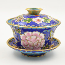 Beijing Jingtailan (Cloisonne) bowl with fitted cover​