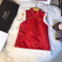 2017 Dolce & Gabanna winter new arrival little kids series classic cheongsam style vest dress wearable from 8 months to 4 years old for girls