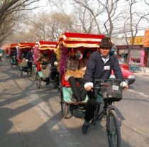 Beijing Hutong rickshaw tour with a local family visit and lunch (included stir fried Dandong fermented corn noodles),making dumplings culinary class.