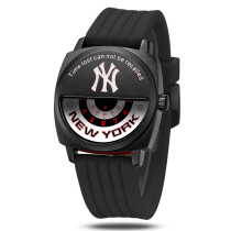New York Major League Baseball (MLB),creative casual sport watch,specific cool fashionable,waterproof stainless steel face and shell,badge wall,leather belt Quartz wristwatch for gentlemen and schoolboys