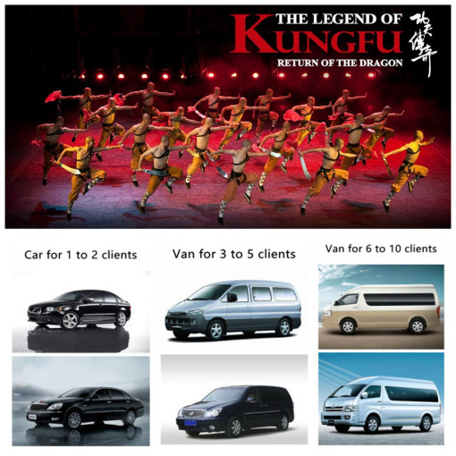 Legend of Kungfu show ticket with free car service