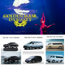 Beijing Golden Mask Dynasty show ticket with free car service
