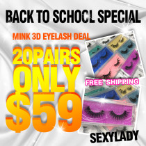 mink 3d / human eyelashes 20pcs back to school sale special