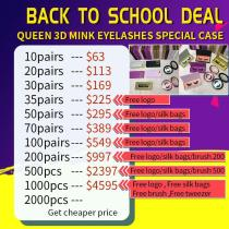 QUEEN 3D MINK LASH (10-1000PAIRS) August Sale with special case