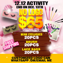 mink 3d eyelashes 20pcs double 12 activity !!!