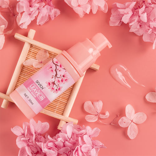 Cherry Blossom leave-in hair mask repair damaged hair 30ml Smoothes Amino acid Hair Care Mask Help Hair Nourishing