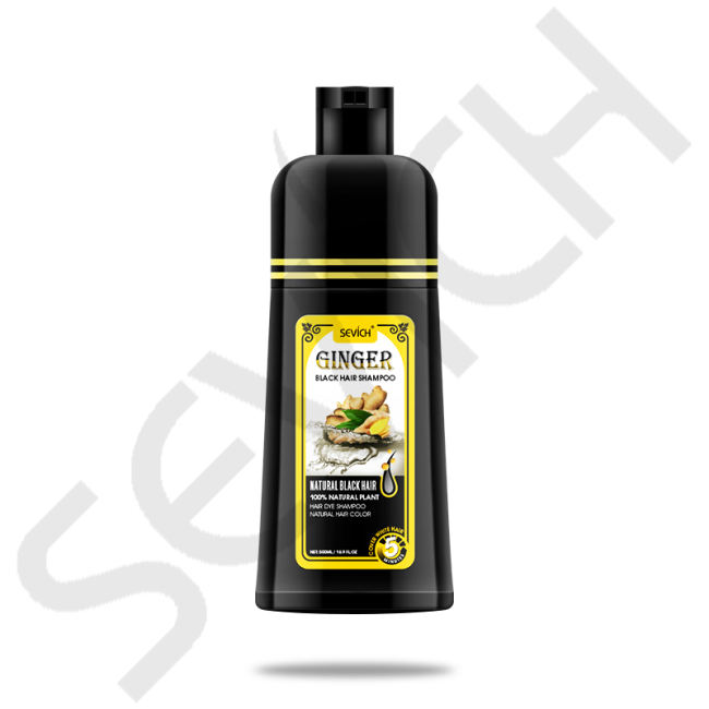 Ginger Black Hair Shampoo Only 5 Minutes Sevich Black Hair Shampoo Fast Dye Grey White to Black