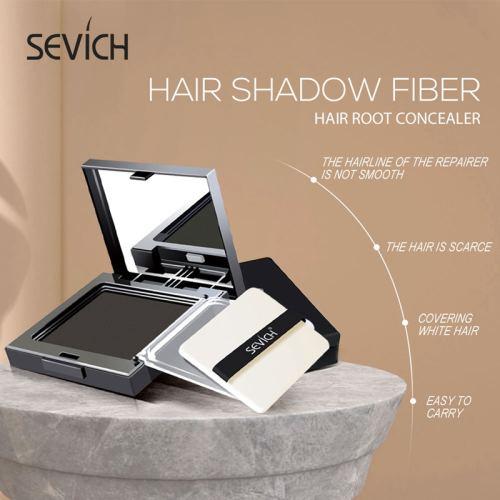 Sevich 12g Hair Shadow Powder (5 colors) Hair Shadow Powder Waterproof Hairline Edge Control Powder With Puff
