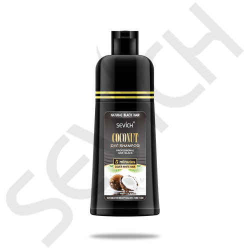 Coconut Dye Shampoo Natural Lasting Black Hair Shampoo 500ml SevichBlack Hair Shampoo Fast Dye GreyWhite to Black Only 5 Minutes