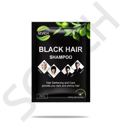 Black Hair Shampoo 25ml Sevich Black Hair Shampoo Fast Dye Grey White to Black Only 5 Minutes Noni Plant Essence Natural Lasting Months
