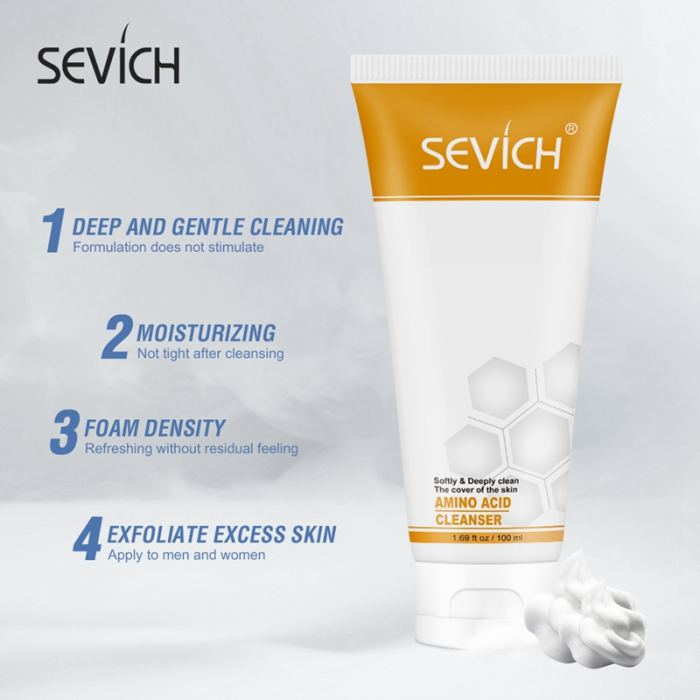 Amino Acid Cleanser Sevich 100ml Amino Acid Moisturizing Facial Cleanser Pore Face Washing Product Skin Care Anti Aging Wrinkle treatment Cleansing