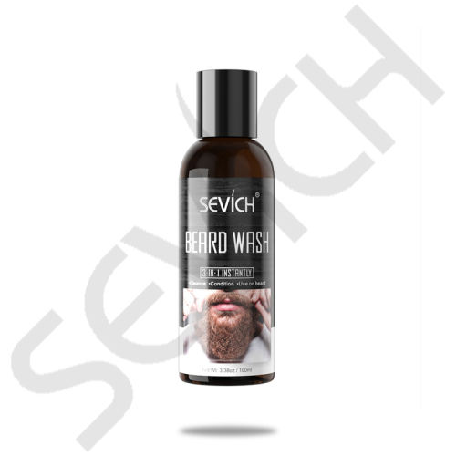 Beard Wash Sevich 100ml Beard Wash for Men Beard Shampoo Mustache Wash Moisturizing Smoothing Gentlemen Beard Care