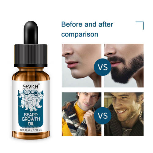 Beard Growth Oil Sevich Men Beard Oil Natural Organic Smoothing Oil For Fast Beard Growth Hair Loss Products 20ml Gentlemen Beard Growth Oil