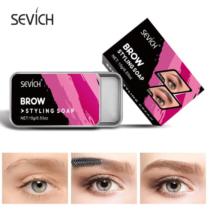 Sevich 3D Feathery Brows Makeup Brows Styling Soap Kit 15g Lasting Eyebrow Setting Gel Waterproof Eyebrow Tint Pomade Cosmetics