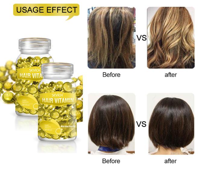 Hair Vitamin(7 colors) Sevich Pro Keratin Complex Oil Hair Vitamin Capsule Oil Silky & Shiny Hair Serum Moroccan Oil Nourishing Hair Oil Repair Damage