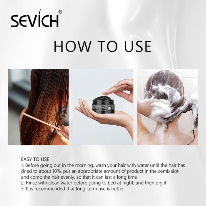 Sevich Hair Dye Cream 100g Nature Blackening Styling Hair Wax Unisex Hair Dye Color Cream Cosmetic Beauty Hair Care