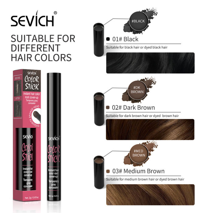 2g Sevich 3 Colors Hair Root Shadow Powder Waterproof Hair Shadow Trimming Hairline Edge Control Powder Pen