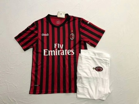 19-20 AAA Quality Men's AC Milan Home Jersey Uniform