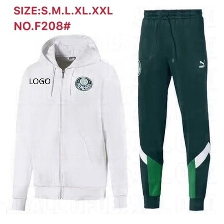 19/20 Adult hoodies jacket Palmeiras white soccer kits football uniforms