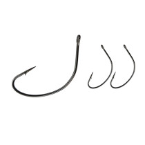 Fishing Wide Gape Hooks ,High Carbon Steel Hook, Stainless , 1/0-5/0