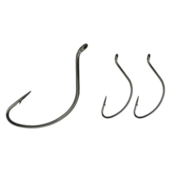 Fishing Wide Gape Hooks ,High Carbon Steel Hook, Stainless , 1/0-5/0