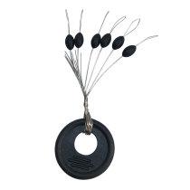 Rubber fishing oval stoper,fishing stop  black fishing beads